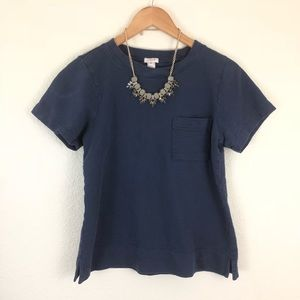 J.Crew Navy Short Sleeve Pocket T-Shirt